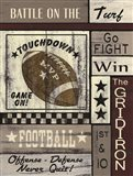Football Game On Art Print