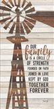 Family Circle Windmill Art Print