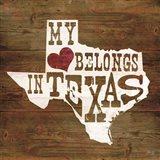 My Heart Belongs to Texas Art Print
