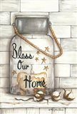 Glass Luminary Bless Our Home Art Print