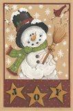 A Snowman's Joy Art Print