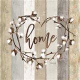 Home Cotton Wreath Art Print