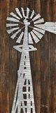 Metal Windmill Art Print
