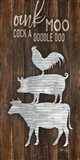 Metal Farm Animal Stack Art Print