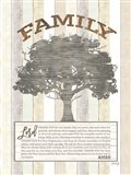 Family Prayer Tree Art Print