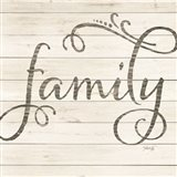 Simple Words - Family Art Print