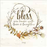 Bless Our Home Fall Foliage Art Print