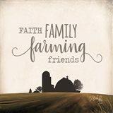 Faith Family Farming Friends Art Print