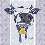 Bluebell the Cow Art Print