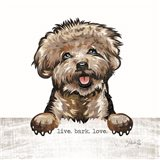 Live. Bark. Love. Art Print