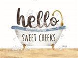 Hello Sweet Cheeks Art Print