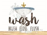 Wash - Brush - Floss - Flush Art Print