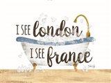I See London Bathtub Art Print
