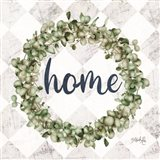 Home Eucalyptus Wreath Art Print
