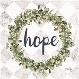 Hope Eucalyptus Wreath Art Print