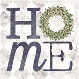 Home with Eucalyptus Wreath III Art Print