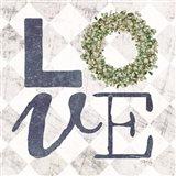 Love with Eucalyptus Wreath III Art Print