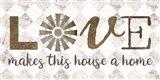 Love Makes This House a Home Art Print