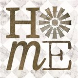 Home with Windmill III Art Print