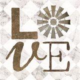 Love with Windmill III Art Print
