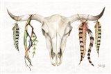 Tribal Skull II Art Print