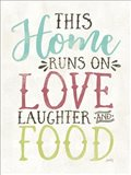 Love, Food and Laughter Art Print