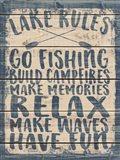 Lake Rules Art Print