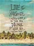 Live in the Sunshine Art Print