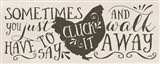 Cluck It Art Print