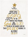 Luke Christmas Tree Art Print