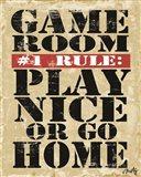 Game Room #1 Rule Art Print