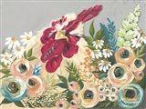 Hen in the Flower Garden Art Print