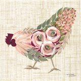 Botanical Rooster II Art Print