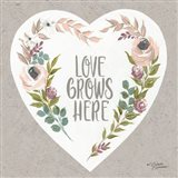 Love Grows Here Art Print