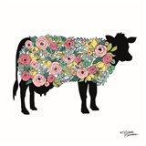 Floral Cow Art Print