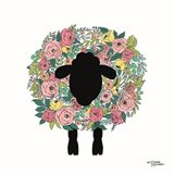 Floral Sheep Art Print
