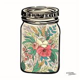 Floral Jar Art Print