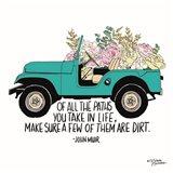 Floral Jeep Art Print