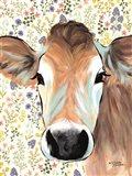 Bluebell Cow Art Print