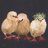 Chick Trio Art Print