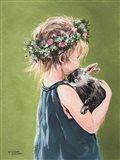Girl with Bunny Art Print