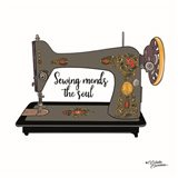 Sewing Mends the Soul Art Print