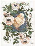 Vintage Frame Chick Art Print