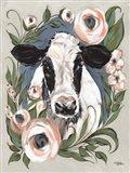 Vintage Frame Cow Art Print