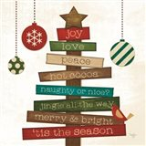 Christmas Tree Sentiments Art Print