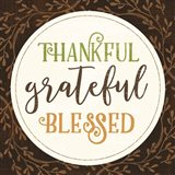 Thankful Grateful Blessed Art Print