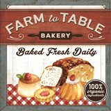 Farm to Table Bakery Art Print