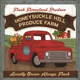 Honeysuckle Hill Produce Farm Art Print