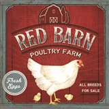 Red Barn Poultry Farm Art Print