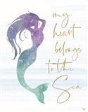 My Heart Belongs to the Sea Art Print